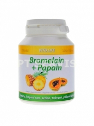 VitoLife Bromelain + Papain 100 tablet 250 + 100mg
