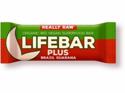 LIFEFOOD Bio tyčinka Lifebar Plus Guarana a Brazil 47g