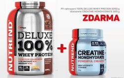 NUTREND  DELUXE 100% Whey protein 2250 g + Creatine monohydrate 300g ZDARMA